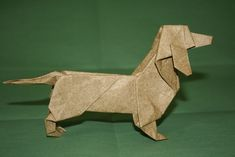 origami dachshund origami dachshund folded from a single uncut square of ele flickr printable