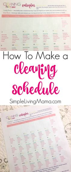 If you're struggling with your housework, don't fret! Learn how to make a cleaning schedule even if you have little kids.