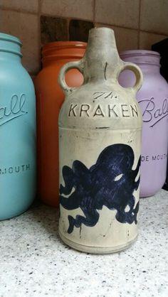 Kraken Rum Sculpted Octopus Bottle 100 00 Via Etsy