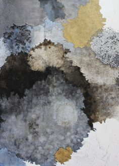 Melinda Schawel 'Space to Breathe' 2015 Ink & pencil on torn & perforated paper 104x75cm