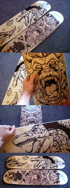 Skateboard decks by T.MISTthedailyboard | facebook | pinterest | twitter | google+ | submit
