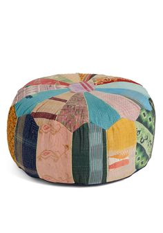 {Patchwork from Home Pouf} Cute.