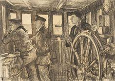 341px-The_Wheelhouse,_Hm_Trawler_Mackenzie_Art.IWMART933.jpg 341×240 pixels