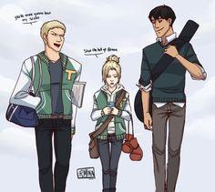Reiner | Annie | Bertholdt | Shingeki no Kyojin |  Attack on titan | SNK | School
