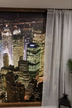 See this customer's photo of how they create a fake city window using a Manhattan skyline mural. They use sheer drapery on either side of the cityscape wallpaper, making their basement wall look like a sliding door in a New York City apartment building. These wall murals are easy to hang, removable and eco-friendly. Windows Wallpaper, Wall Wallpaper, Cityscape Wallpaper, New York City Apartment, Manhattan Skyline, Looking Out The Window, Basement Walls, Sliding Door, Drapery