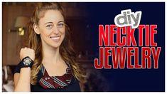 DIY Necktie Jewelry - Do It, Gurl - YouTube