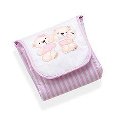 Interbaby 91154-01 – Cambiador portátil para bebé, diseño de osos, color rosa