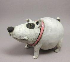 "Shake That Booty, Bella - Dog Sculpture in Stoneware. €75.00, via Etsy. 3x4"""