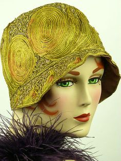 WOW --- I was just thinking Cloche!!! And found this!!! Vintage hat 1920s ART…