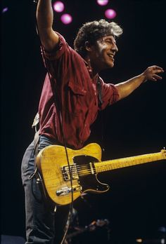 The Boss Bruce Springsteen (1984)   .   .   .  Glory Days will never pass this one by  .  .  . Incredible  .    .    .    .    .    .    (thesamiposts)