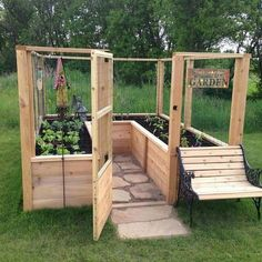 Nice idea for a raised garden bed. Easy to reach everything. Nice idea for a raised garden bed. Easy to reach everything. The post Nice idea for a raised garden bed. Easy to reach everything. appeared first on Garden Diy. Raised Garden Bed Plans, Raised Beds, Small Raised Garden Ideas, Cute Garden Ideas, Raised Flower Beds, Small Yard Veggie Garden Ideas, Small Enclosed Garden Ideas, Garden Ideas For Small Spaces, Raised Herb Garden