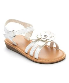 Ositos Shoes white patent sandal on Zulily.