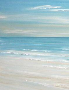 Beach art, beach decor beach artwork, artwork above b. Seascape Paintings, Landscape Paintings, Beach Paintings, Beach Scene Painting, Watercolor Landscape, Watercolor Paintings, Salt Painting, Pictures To Paint, Canvas