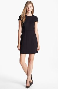 Cynthia Steffe 'Rebel' Studded Shoulder Ponte Knit Sheath Dress available at #Nordstrom