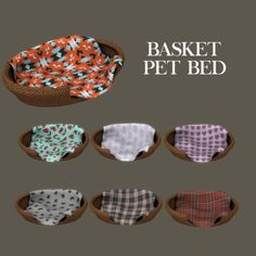 Basket Pet Bed by Leo Sims for The Sims 4