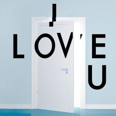 I Love U Wall Decals - WallCandy Arts