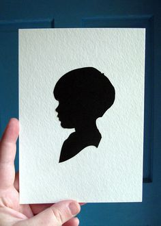 How to make a silhouette portrait old school style pinterest paper silhouette handcut and mounted custom made for you ideas for christmas presentsdiy solutioingenieria Images