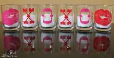 Kissy Lips and XOXO Vinyl Votive Candles Project http://joyslife.com/xoxo-vinyl-votive-candles-project
