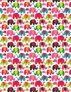 Kids elephant wallpaper. Scaled to fit 1:12. Fits 8.5x11 paper.