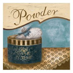 Bath Accessories I - Blue Powder Giclee Print by Gregory Gorham at Art.com