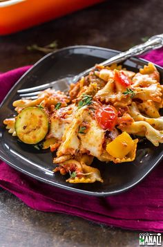 Veggie Lovers Baked Pasta is loaded with vegetables. If you love your veggies, then this pasta is for you. Baked Pasta Recipes Vegetarian, Veggie Recipes, Lunch Recipes, Cooking Recipes, Healthy Recipes, Healthy Meals, Veggie Food, Vegetarian Meals, Soup Recipes