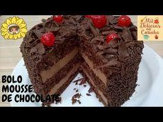 Bolo de Nutella e Ninho Cheesecakes, Cake Boss, Chocolate Recipes, Truffles, Nutella, Gingerbread, Cake Recipes, Deserts, Food And Drink
