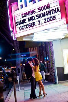 Wedding Crushes :  wedding amarillo decor Movie Theater Marquee Mibelleinc movie-theater-marquee-mibelleinc