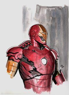 Adi Granov - Battle Damaged Iron Man MkIII