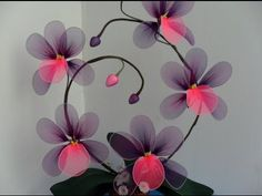 Как сделать цветы из капрона.Мастер класс. - YouTube