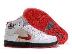 F4T6J074 authentique Nike Air Jordan 1 Retro Blanc Rouge Chaussures Hommes, nike air jordan retro 1 pas cher