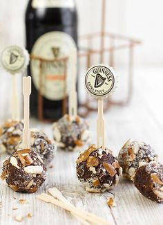 Guinness Chocolate Pretzel Truffles