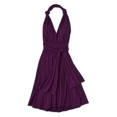 Target: convertible wrap dress in seven colors (want purple or green). $31.99 for bridesmaids!