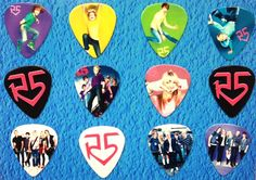 R5 Band -Ross Lynch- Guitar Picks - Set of 12 i want them so badddd