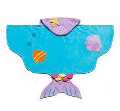 Personalized Hooded Bath Towel, Kids bath towel, Mermaid.