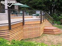 In terms of the home decor, deck primarily works as your living area's extension. However, a lot of people tend to overlook the skirting. That is why we gathered up some of the mesmerizing deck skirting ideas for you. Deck Plans, Pergola Plans, Pergola Kits, Deck Skirting, Deck Storage, Deck Steps, Deck Pictures, Under Decks, New Deck