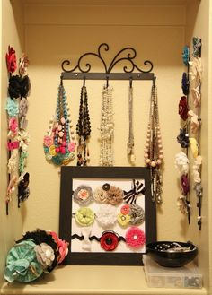 Cute ideas for storing accessories