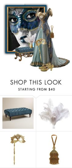 """""""Vintage Masquerade"""" by ollie-and-me ❤ liked on Polyvore featuring Cost Plus World Market, Pier 1 Imports and vintage"""