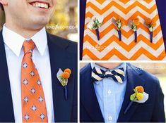 blue and orange wedding idea | ... navy-blue-orange-groomsmen-suits-wedding-colors-scheme-chevron-wedding