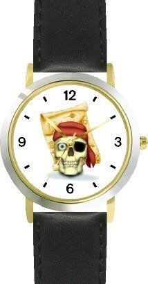 Skull with Eye Patch & Red Bandanna Hat & Treasure Map - Pirate Theme - JP - WATCHBUDDY® DELUXE TWO-TONE THEME WATCH - Arabic Numbers - Black Leather Strap-Size-Children's Size-Small ( Boy's Size & Girl's Size ) WatchBuddy. $49.95. Save 38%!