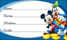 Etiqueta Escolar Personalizada Mickey e sua Turma Boarders And Frames, Holiday Wallpaper, Disney Princess Art, Baby Invitations, Cute Pins, Party Printables, Diy And Crafts, Mickey Mouse, Hello Kitty