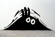 Set of 2 Two Vinyl Decal Peeking Monsters by DivaDecalsandDesign
