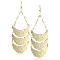Lucky Star Jewels Venice Earrings ❤ liked on Polyvore featuring jewelry, earrings, earring jewelry, half moon earrings, long earrings, urban jewelry and urban earrings
