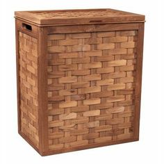 Woven Teak Clothes Hamper by Selamat. $365.63. F38-T This bath accessory is designed with beautifully woven teak strips that add texture and warmth to any setting. Features: -Woven Teak collection. -Material: Teak. -Strips design. -1 Year warranty.