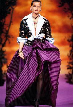 Lacroix, sweetie, Lacroix   :)  Supermodel Nadege du Bospertus for Christian Lacroix F/W 1992-1993
