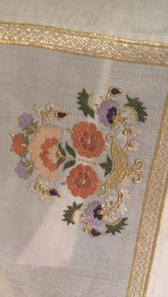 Turk isi ***** Folk Embroidery, Turkish Fashion, Gold Work, Oriental, Ottoman, Sketches, Textiles, Antiques, Crochet