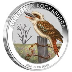 World Money Fair - Berlin Coin Show Special 2016 Australian Kookaburra 1oz Silver Coloured Coin