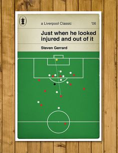 Liverpool FC - Steven Gerrard - Penguin Classic Book Cover Poster (UK and US sizes available)