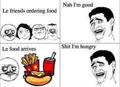 Friends ordering food