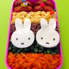Miffy, Bento, Hello Kitty, Food, Essen, Meals, Yemek, Eten, Bento Box