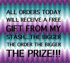 Free Gift with Order